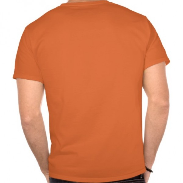 orange tshirt back