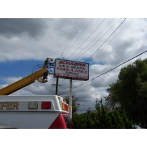 Double Sided Pole Sign