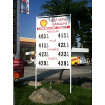 Gas Station Sign / numbers