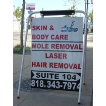 48in Tall double sided sidewalk sign