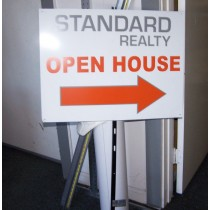 18in x 24in double sided Aluminum signs.